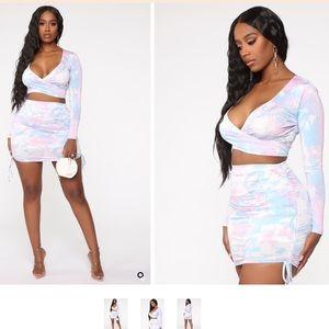 Fashion-Nova 2-piece tie dye set